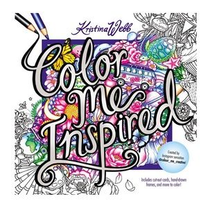Coloring book by KRISTINA WEBB.NWT